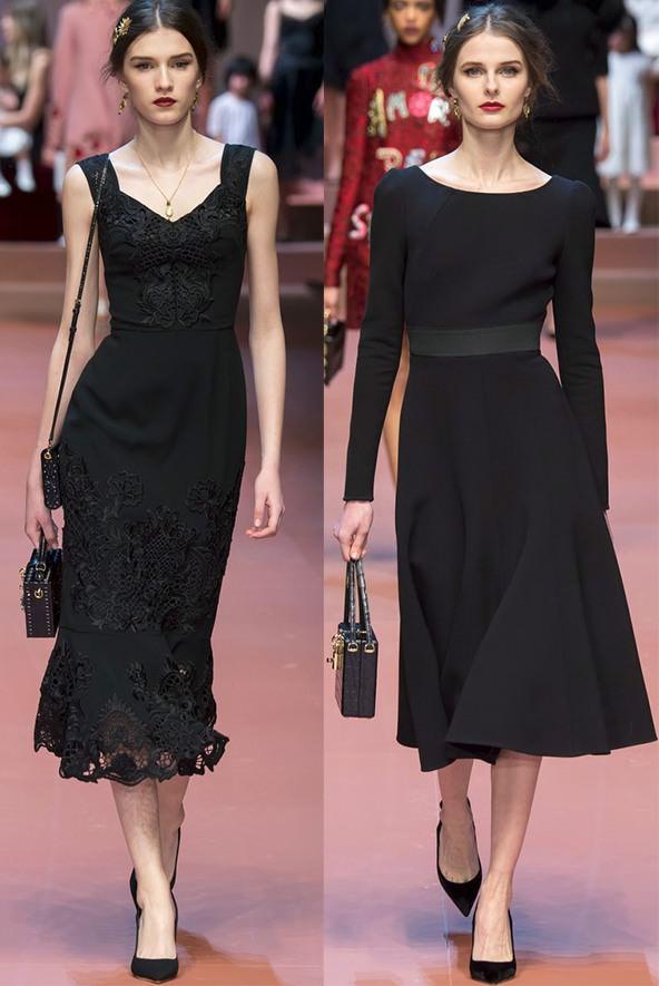 Модні чорні плаття осінь-зима 2015-2016  85934e2cf748a