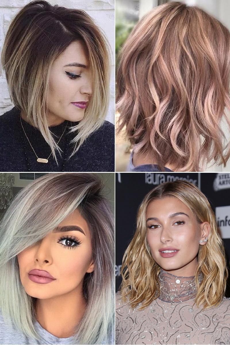 Модный окрас волос на средние волосы
