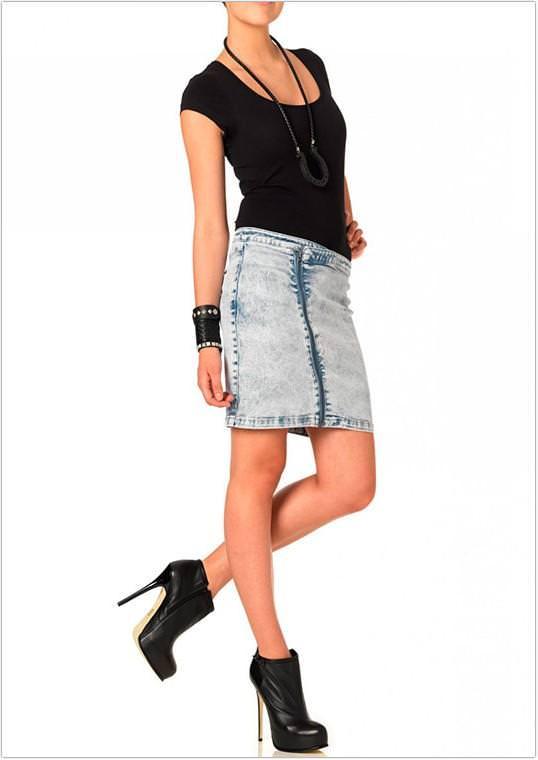 Модні джинсові спідниці 2013 фото