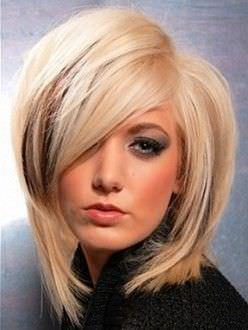 Модні зачіски на середнє волосся 2012