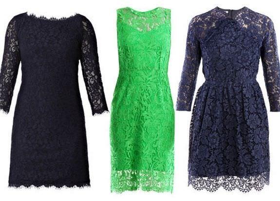 Модні гіпюрові плаття 2012